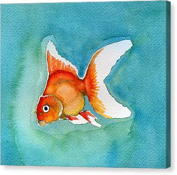 Ryukin Goldfish Canvas Print by Katherine Miller