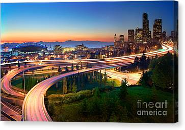 S For Seattle Canvas Print by Inge Johnsson