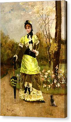 Sa Majeste La Parisienne Canvas Print by Alfred Stevens