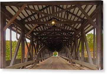 Saco River Bridge Canvas Print by Karen Stephenson
