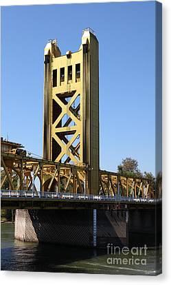 Sacramento California Tower Bridge 5d25528 Canvas Print by Wingsdomain Art and Photography