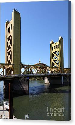 Sacramento California Tower Bridge 5d25529 Canvas Print by Wingsdomain Art and Photography