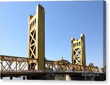 Sacramento California Tower Bridge 5d25530 Canvas Print by Wingsdomain Art and Photography