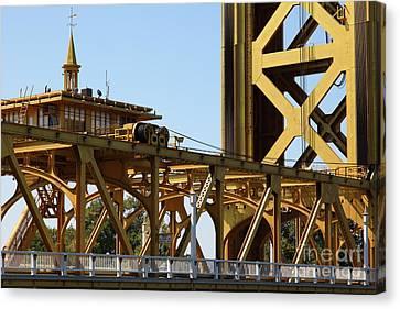 Sacramento California Tower Bridge 5d25539 Canvas Print by Wingsdomain Art and Photography
