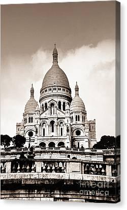 Sacre Coeur Basilica In Paris Canvas Print by Elena Elisseeva
