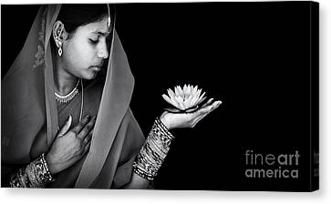 Sacred Flower Canvas Print by Tim Gainey