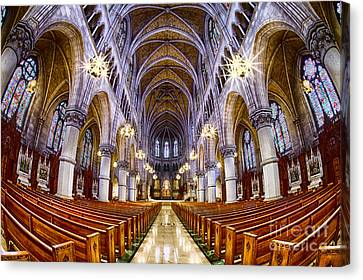 Sacred Heart Basilica Canvas Print by Jerry Fornarotto