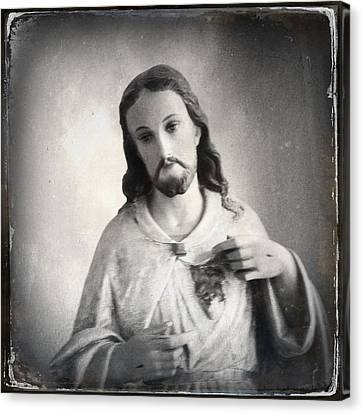 Sacred Heart Canvas Print by H James Hoff