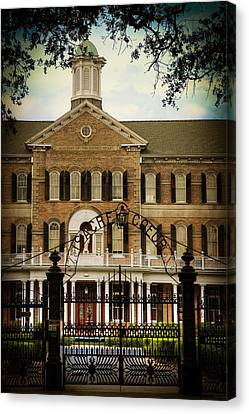 Sacred Heart School Canvas Print by Ray Devlin