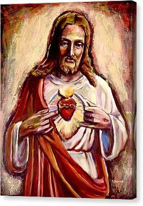 Sacred Heart Canvas Print by Sheila Diemert