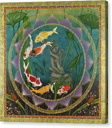 Sacred Pond Canvas Print by Nadean OBrien