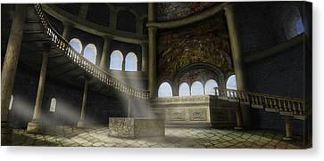 Sacrifices Temple Canvas Print by Virginia Palomeque