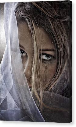 Sad Girl Canvas Print by Erik Brede