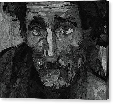 Sad Man Canvas Print by Ayse Deniz