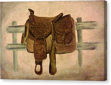 Saddle Up Canvas Print by Christy Saunders Church