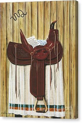 Saddle Up Canvas Print by Jennifer Lake