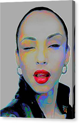 Sade 3 Canvas Print by Fli Art