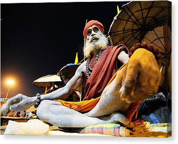 Sadhu Canvas Print by Money Sharma