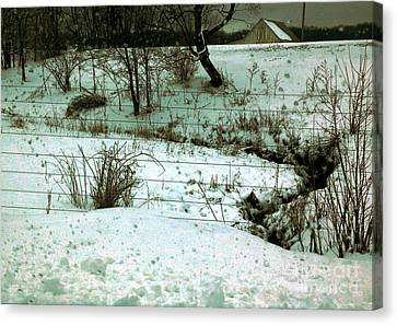 Sadowsky's Farm Along The Eel River Road 6 Pm Canvas Print by Charlie Spear