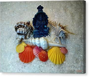 Safeguard Symbol Seashells Canvas Print by Hanza Turgul