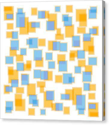Saffron Yellow And Azure Blue Canvas Print by Frank Tschakert