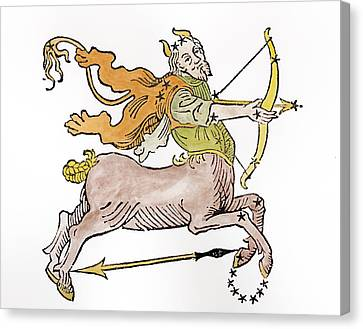 Sagittarius An Illustration Canvas Print by Italian School