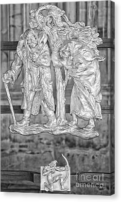 Sagittarius Zodiac Sign - St Vitus Cathedral - Prague - Black And White Canvas Print by Ian Monk