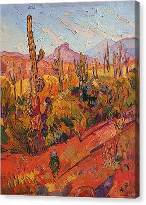 Saguaro Gathering  Canvas Print by Erin Hanson