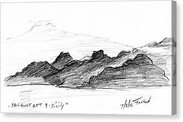 Sail Away Aft 9 Sicily Canvas Print by Valerie Freeman