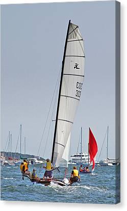 Sail On...compo Beach Canvas Print by Joann Vitali