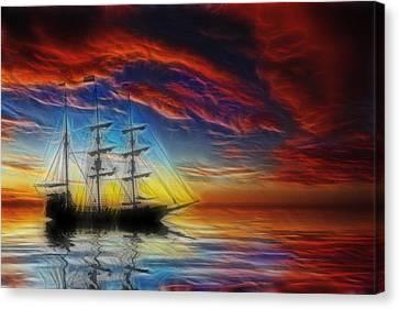 Sailboat Fractal Canvas Print by Shane Bechler