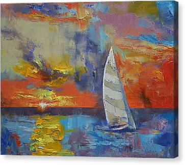 Sailboat Canvas Print by Michael Creese