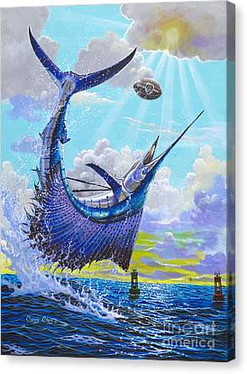 Sailfish Football Off0030 Canvas Print by Carey Chen