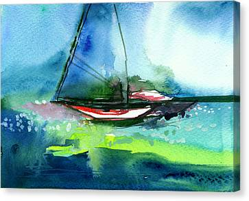 Sailing 2 Canvas Print by Anil Nene