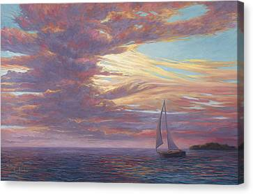 Sailing Away Canvas Print by Lucie Bilodeau