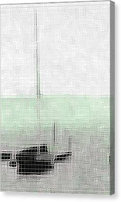 Sailing Boat At A Dock Canvas Print by Toppart Sweden