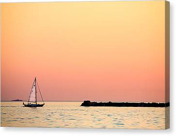 Sailing In Color Canvas Print by Gary Heller
