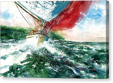 Sailing On The Breeze Canvas Print by Steven Schultz