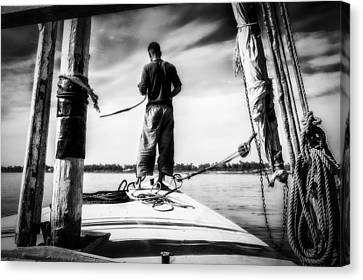 Sailing On The Nile Canvas Print by Erik Brede
