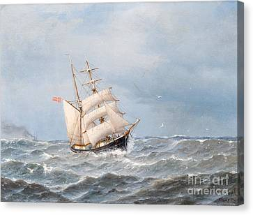 Sailing Canvas Print by Celestial Images