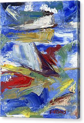 Sailing Canvas Print by Pamela Parsons