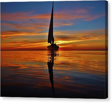 Sailing Perfection 19 7/5 Canvas Print by Mark Lemmon