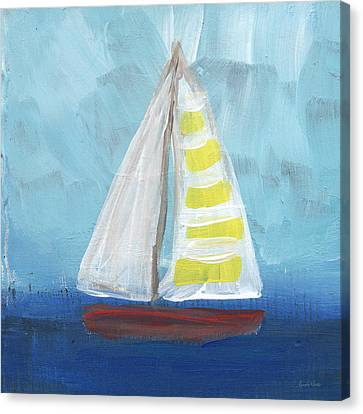Sailing- Sailboat Painting Canvas Print by Linda Woods