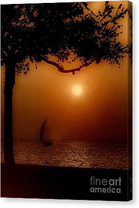 Sailing Sunset Canvas Print by Michael Hoard