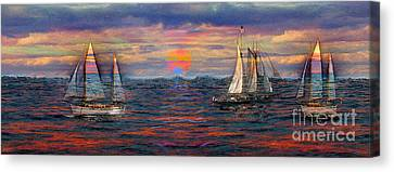 Sailing While Dreaming Canvas Print by Jeff Breiman