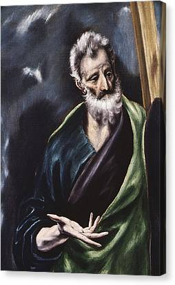 Saint Andrew Canvas Print by Celestial Images