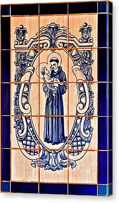 Saint Anthony Of Padua Canvas Print by Christine Till