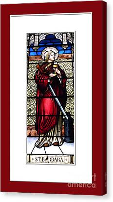 Saint Barbara Stained Glass Window Canvas Print by Rose Santuci-Sofranko
