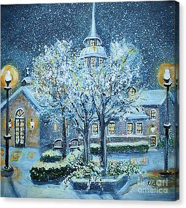 Saint Dominic Chapel Providence College Canvas Print by Rita Brown