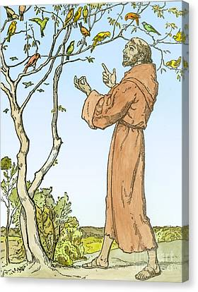 Saint Francis Of Assisi Canvas Print by Hellmut Eichrodt